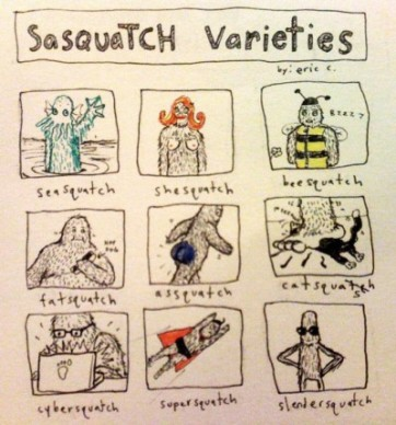 sasquatch varieties